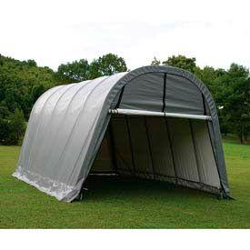 12x24x8 Round Style Shelter - Grey