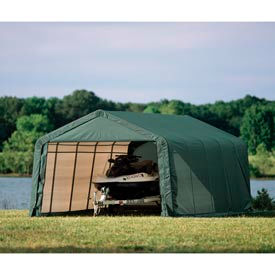 12x24x8 Peak Style Shelter - Green