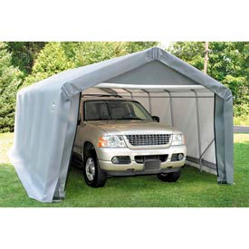 10x16x10 Peak Style Shelter - Grey