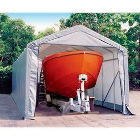 14x28x12 Peak Style Shelter - Gray