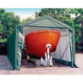 14x28x12 Peak Style Shelter - Green