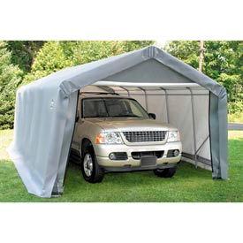 12x28x8 Peak Style Shelter - Grey