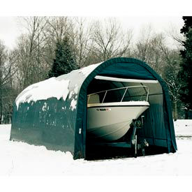 12x28x8 Round Style Shelter - Green