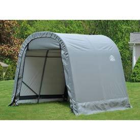8x12x8 Round Style Shelter - Grey