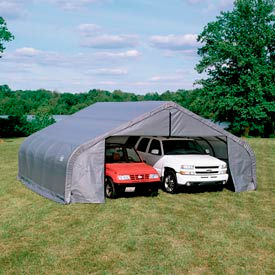 22x24x12 Peak Style Shelter - Grey