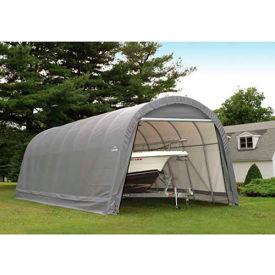 ShelterLogic, 95360, Round Style Shelter 14 x ft. 24 x ft. 12 ft. Gray
