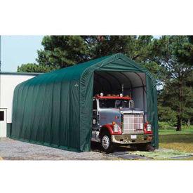 ShelterLogic, 95371, Peak Style Shelter 14 x ft. 24 x ft. 12 ft. Green