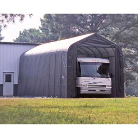 14x40x16 Peak Style Shelter - Gray