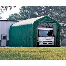 14x44x16 Peak Style Shelter - Green