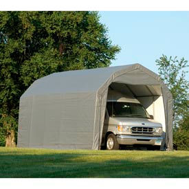 ShelterLogic Barn Style Shelter 12' x 28' x 9' Gray
