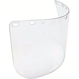 "Faceshield Window, NORTH SAFETY A8154, Clear, Molded, Universal Fit, 8""H x 15-1/2""W x .04""T, 1 Each"