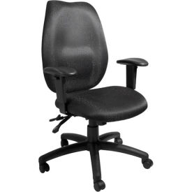 High Back Task Chair with Seat Slider - Black