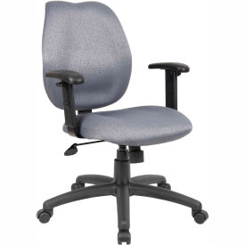 Task Chair with Adjusted Arms - Gray