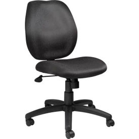 Chairs Fabric Upholstered Task Chair Without Arms Black B200185 Glo