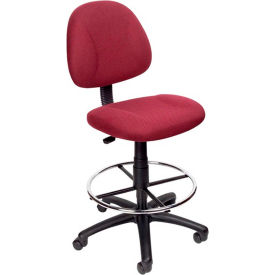 Drafting Stool with Footring Burgundy