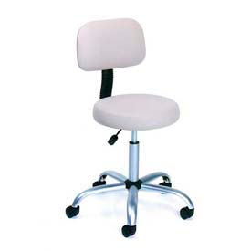Caressoft Vinyl Medical Stool with Back Cushion Beige