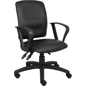 Multi-Function LeatherPlus Task Chair with Loop Arms