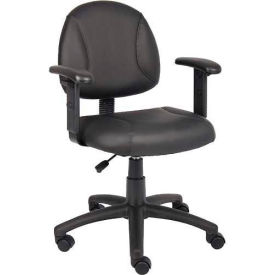 Boss Black Posture Chair with Adjustable Arms