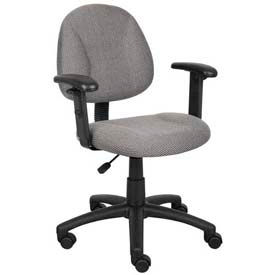Deluxe Posture Chair with Adjustable Arms Gray