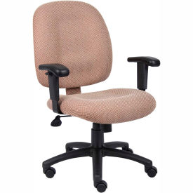 Mid-Back Ergonomic Task Chair - Chestnut