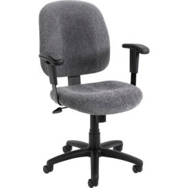 Mid-Back Ergonomic Task Chair - Smoke