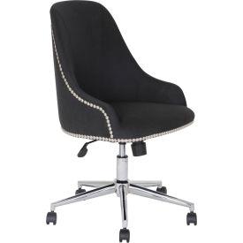 Boss Carnegie Desk Chair - Fabric - Black