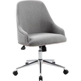 Boss Carnegie Desk Chair - Fabric - Gray