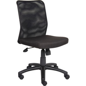 Boss Budget Task Chair - Fabric Seat with Mesh Back - Black