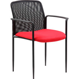 Boss Stackable Mesh Guest Chair - Red