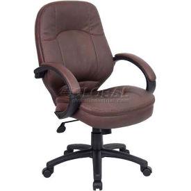 Boss Leatherplus Executive Chair - Brown