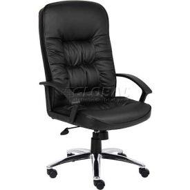 High Back LeatherPlus Chair with Chrome Base Black