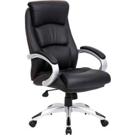 Boss LeatherPlus Executive High Back Chair - Black