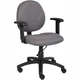 Diamond Task Chair with Adjustable Arms Gray