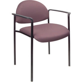 Diamond Stacking Chair with Arms - Gray
