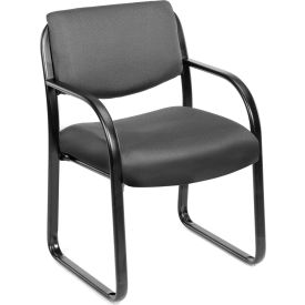 Gray Fabric Guest Chair with Lumbar Support