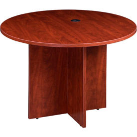 """Boss 42"""" Round Conference Table, Cherry"""