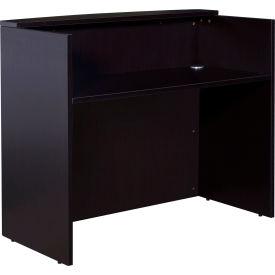 "Boss Glazed Reception Desk - 48""W x 26""D x 41.5""H - Mocha"