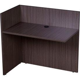 """Boss Reception Return Desk Shell - 42""""W x 24""""D - Driftwood"""