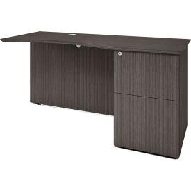 "Boss 48"" Right Desk Return with Box/Box/File Pedestal - Driftwood"