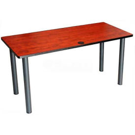 "Boss 60"" x 24"" Rectangular Training Table, Cherry"