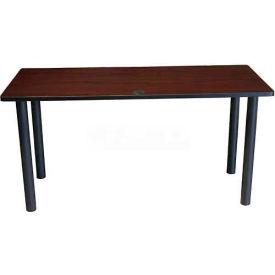 "Boss 60"" x 24"" Rectangular Training Table, Mahogany"