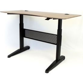 """Boss Height Adjustable Desk - 60""""W x 26.5""""D - Driftwood"""