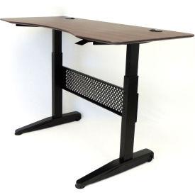"Boss Height Adjustable Desk - 60""W x 26.5""D - Mocha"