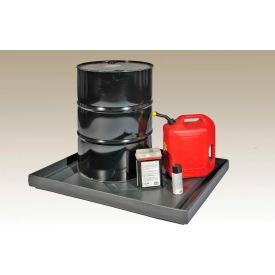 ENPAC® Black Diamond 5002-BK 2-Drum Econo Spill Shell™ - 45 x 35 x 5 - 21.5 Gallon Cap.