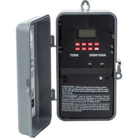 NSI TORK® DGM100A 7 Day Digital Timer w/Holiday & Mommentary Output, 1 Chan, 20A, 120-277V