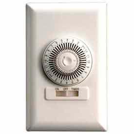 NSI TORK® 701B 24 Hour Wall Switch Timer, 20A, 125V, White, SPST, 30 Minute Tabs, Single Gang
