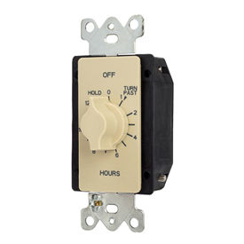 NSI TORK® A512HH 12 Hour Spring Wound Twist Timer with Hold, 125-277V, SPDT, Ivory