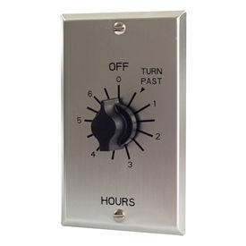 NSI TORK® C506H 6 Hour Spring Wound Twist Timer, 125-277V, SPDT, Metal Wallplate