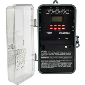NSI TORK® DGLC200A-NC  Astro Digital w/Photo 2CH 20A 120-277V Lighting Control Time Switch