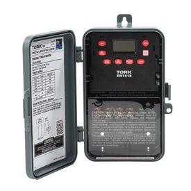 NSI TORK® EW101B 7 Day Digital Timer One Channel 40A 120-277V SPST Indoor/Outdoor Plastic Encl